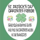 St. Patrick's Day Opposites Freebie