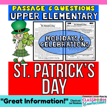 St. Patrick's Day Passage and Questions