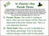 St. Patrick's Day Persuasive Writing Activity