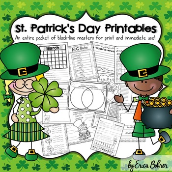 St. Patrick's Day Printables: Black-line Masters for Immediate Classroom Use
