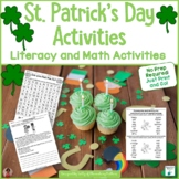 St. Patrick's Day No Prep Printables: Literacy and Math
