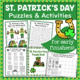 St. Patrick's Day NO PREP Puzzle and Activity Fun for Earl