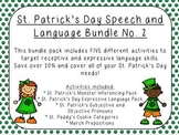 St. Patrick's Day Speech and Language Bundle No. 2