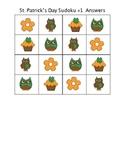 St. Patrick's Day Sudoku Puzzles
