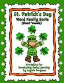 St. Patrick's Day ~ Word Family Sorts (Short Vowels)