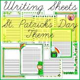 St. Patricks Day Writing Sheets