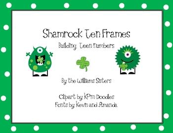St. Patrick's Ten Frames Building Teen Numbers