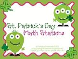 St. Patty's Day Math Stations