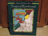 Stained Glass Art - Tropical Rainforest on Vellum-Like Paper