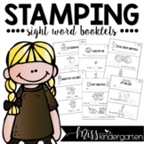 Stamping Sight Word Booklets