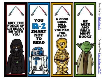 Star Wars Themed Bookmarks Melonheadz Graphics   - 8 Designs