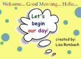Start the Day Calendar & Math activities SmartBoard Lesson