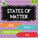 States of Matter Mini Unit: Posters, Notes, Game, and Test