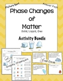 Phase Changes of Matter Bundle: Notes, Picture Sort, and T