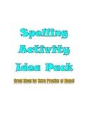 Spelling Activity Idea Pack