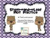 Stem and Leaf Plot Task Cards