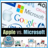 Steve Jobs Apple vs. Bill Gates Microsoft Activity