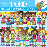 Emotions / Feelings Stick Kids - Clipart for Teaching