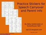 Stickers for Practicing Speech Goals Outside of the Speech Room