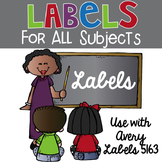 Sticky Labels for Back to School - Avery Labels