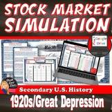 Great Depression - Stock Market Simulation Game (U.S. History)