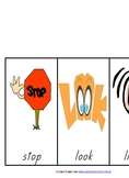 Stop, Look, Listen Poster and Handwriting Pages - 23 pages