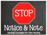 Stop, Note, & Notice: Reading Strategies for Close Reading