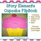 Story Elements Flip Book {Cupcake}