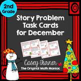Story Problem Task Cards / Journal Prompts for December
