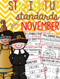 Straight Up! {Standards for November Printables}