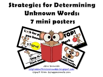 Strategies for Determining Unknown Words: 7 mini posters