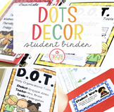 Student Binder {Dots Classroom Set}: Binder Organization a