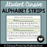 Student Cursive Alphabet Strips
