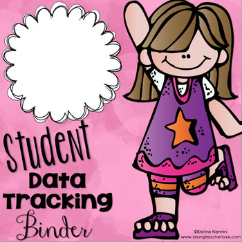 Student Data Tracking Binder Covers and Binder Spines {Freebie!}