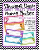 Student Desk Name Plate: Sweet Treats Theme
