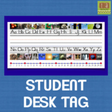 Desk Tag With Alphabet and Number Line