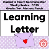 Letter Writing: A Friendly Learning Letter to Parents NO PREP!