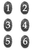 Student Number Magnets - Fingerprints (Detective Theme)