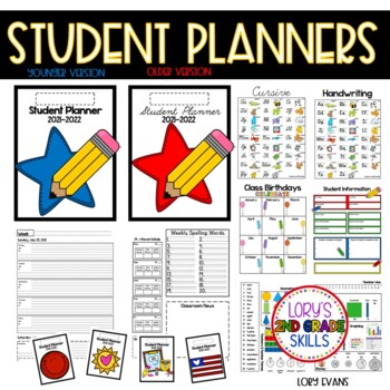 Student Planner - 2014  Older and Primary Version