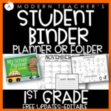 Calendar for First Grade with Common Core, editable