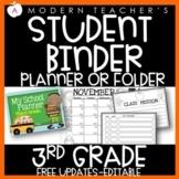 Student Planner with Common Core, editable {Third Grade}