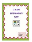 Student Responsibiltiy Card