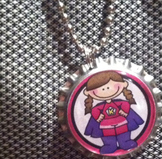 10 pack Student Reward Key Chains: Super Girl!  Dangler fo