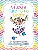Student Take Home Binder-Chevron Style