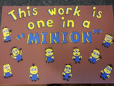 Minions from Despicable Me Student Work Display