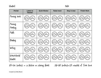 Daily Behavior Chart - klejonka