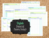 Stylish Financial Planner PDF Printables: Bill Pay, Debt,
