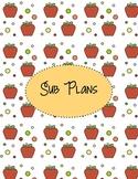 Sub Plan Divider Sheets