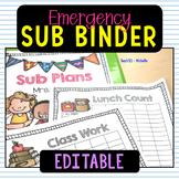 Sub Plans Binder
