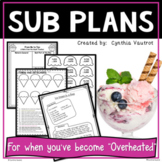 Sub Plans for 3rd Grade!  Homemade Ice Cream